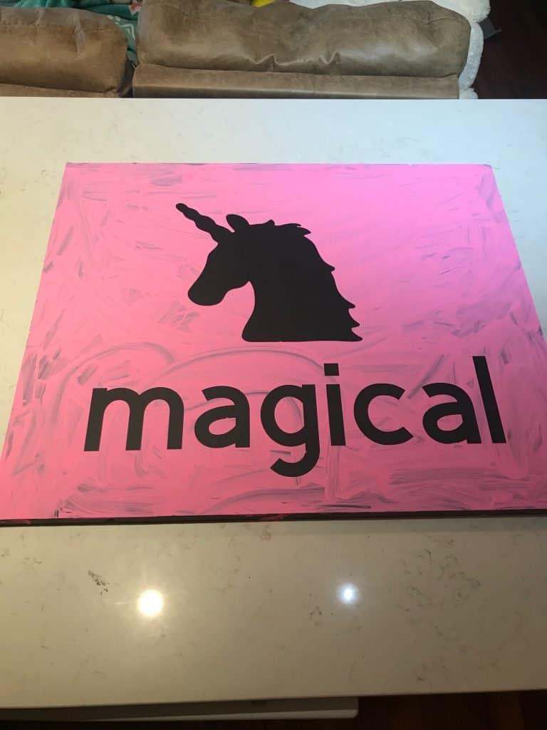 easy kids room artwork with cricut maker