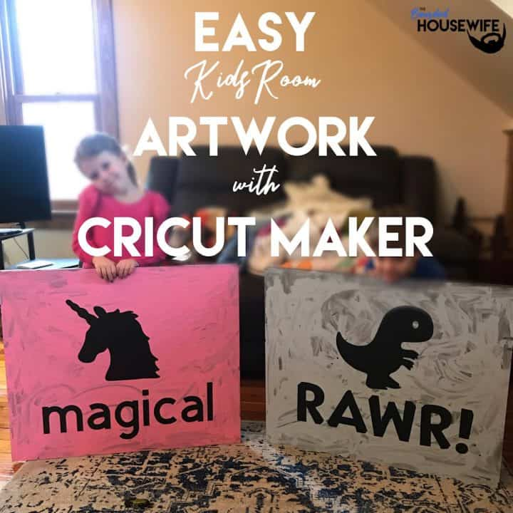 Easy Kids Room Wall Art with Cricut Cutting Machines