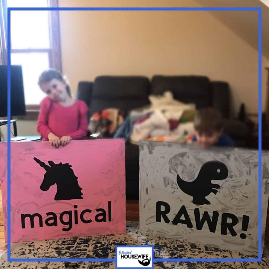 Kids room artwork