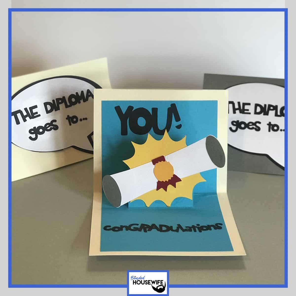 Pop up graduation card