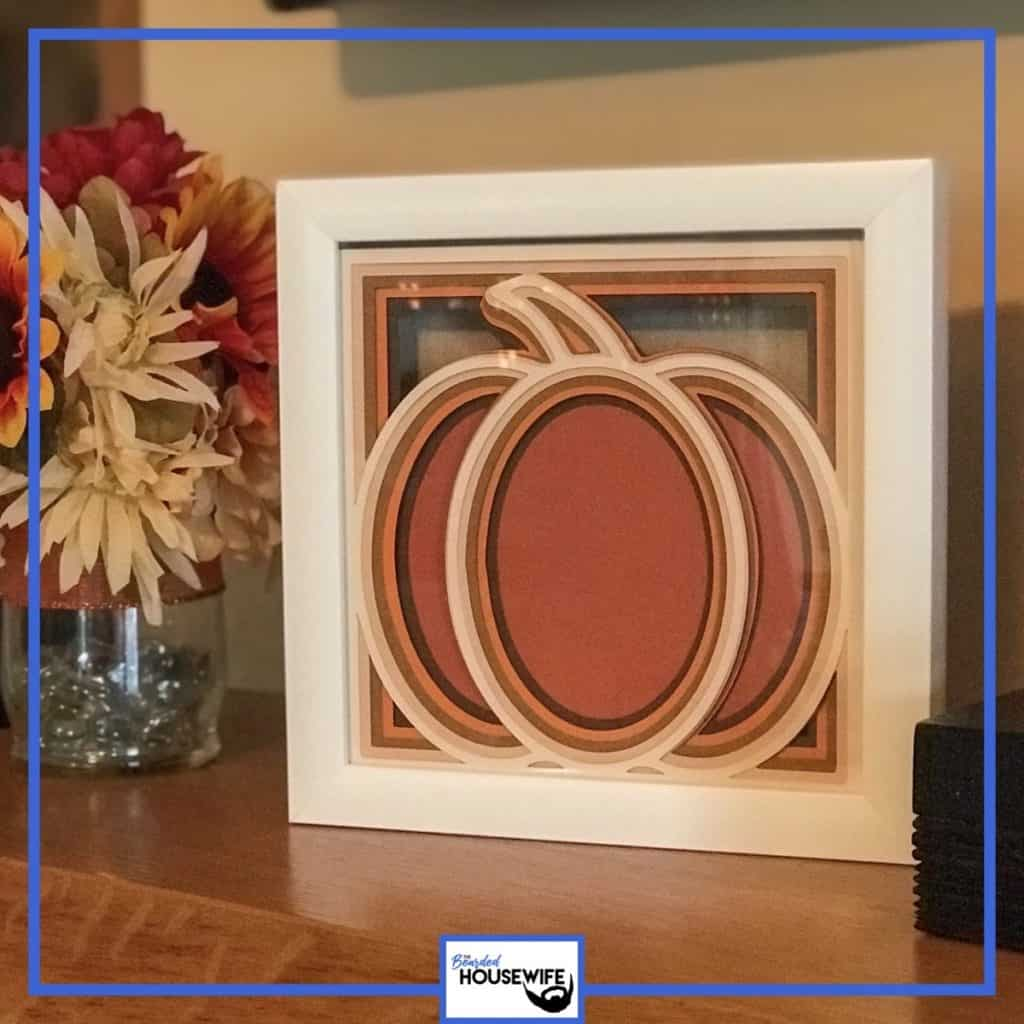 layered pumpkin shadow box