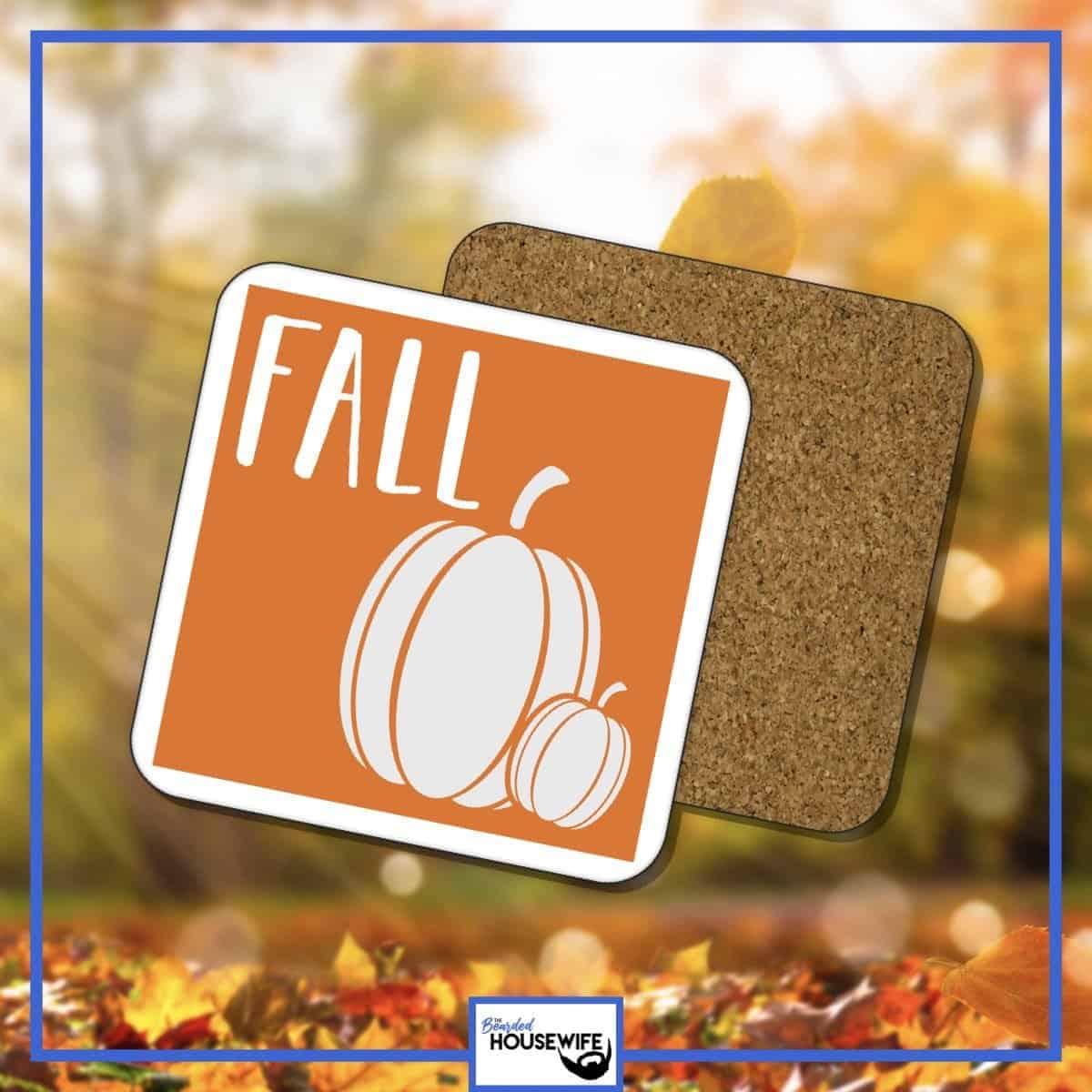 fall pumpkin coasters