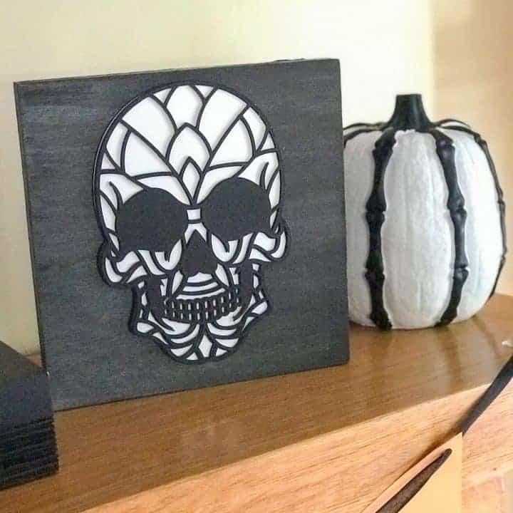 3D Layered Skull Plaques