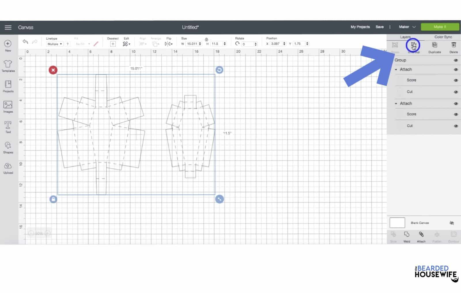 ungroup your design