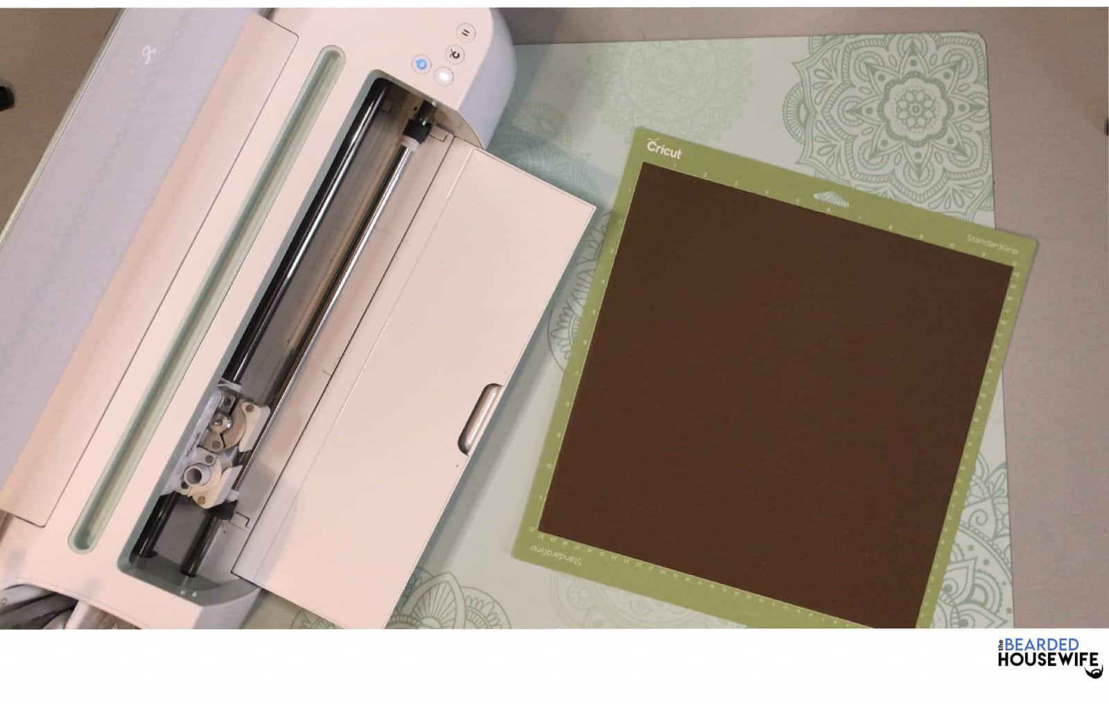to apply the foil, start with your cardstock on your mat