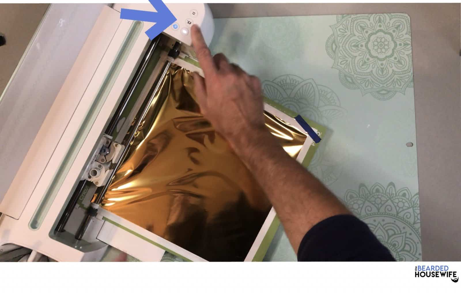 click the flashing C to begin foiling