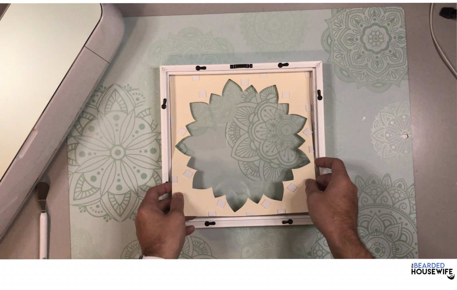 add each layer to the frame from lightest to darkest