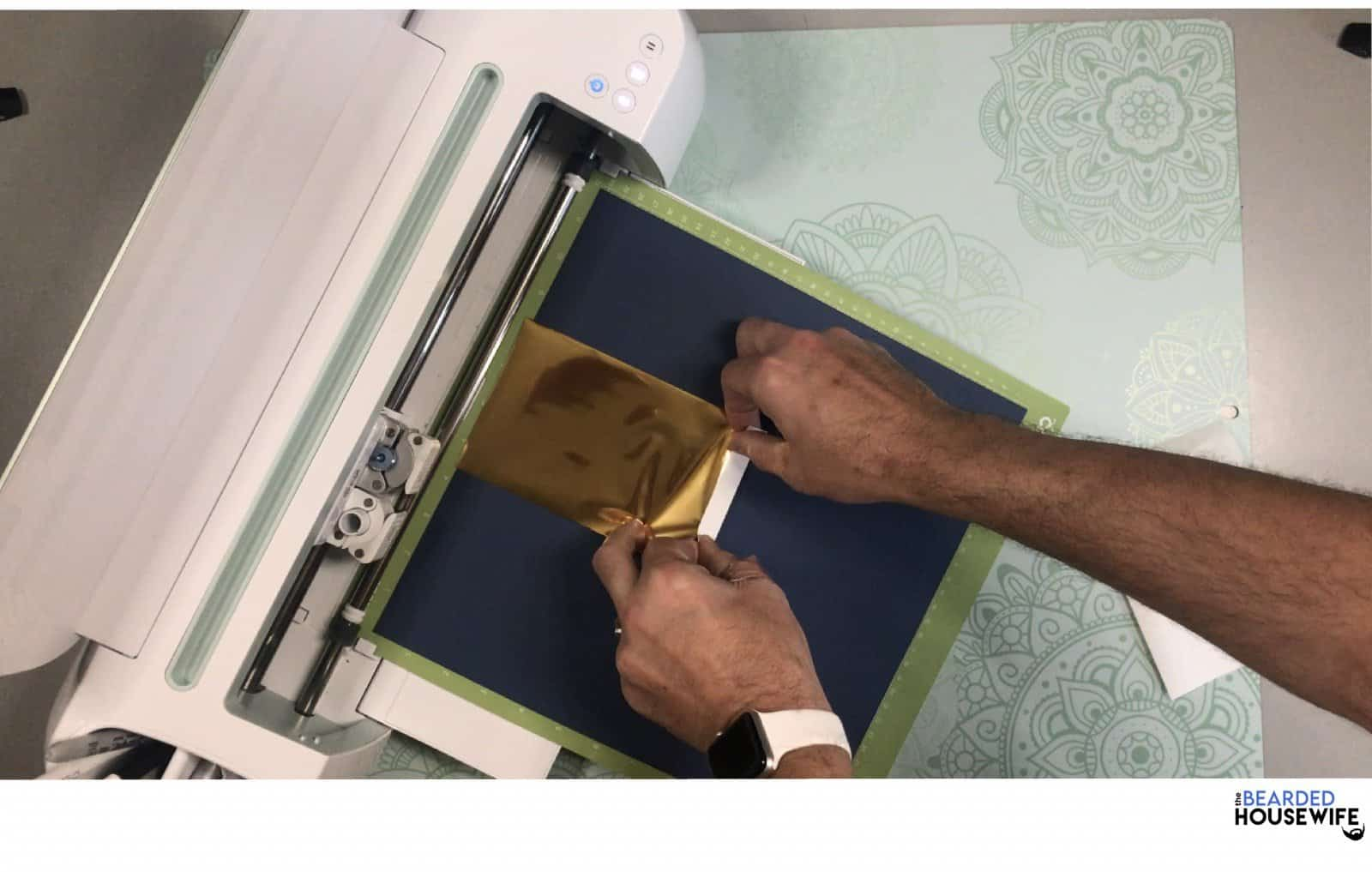 add tape (included) to your foil