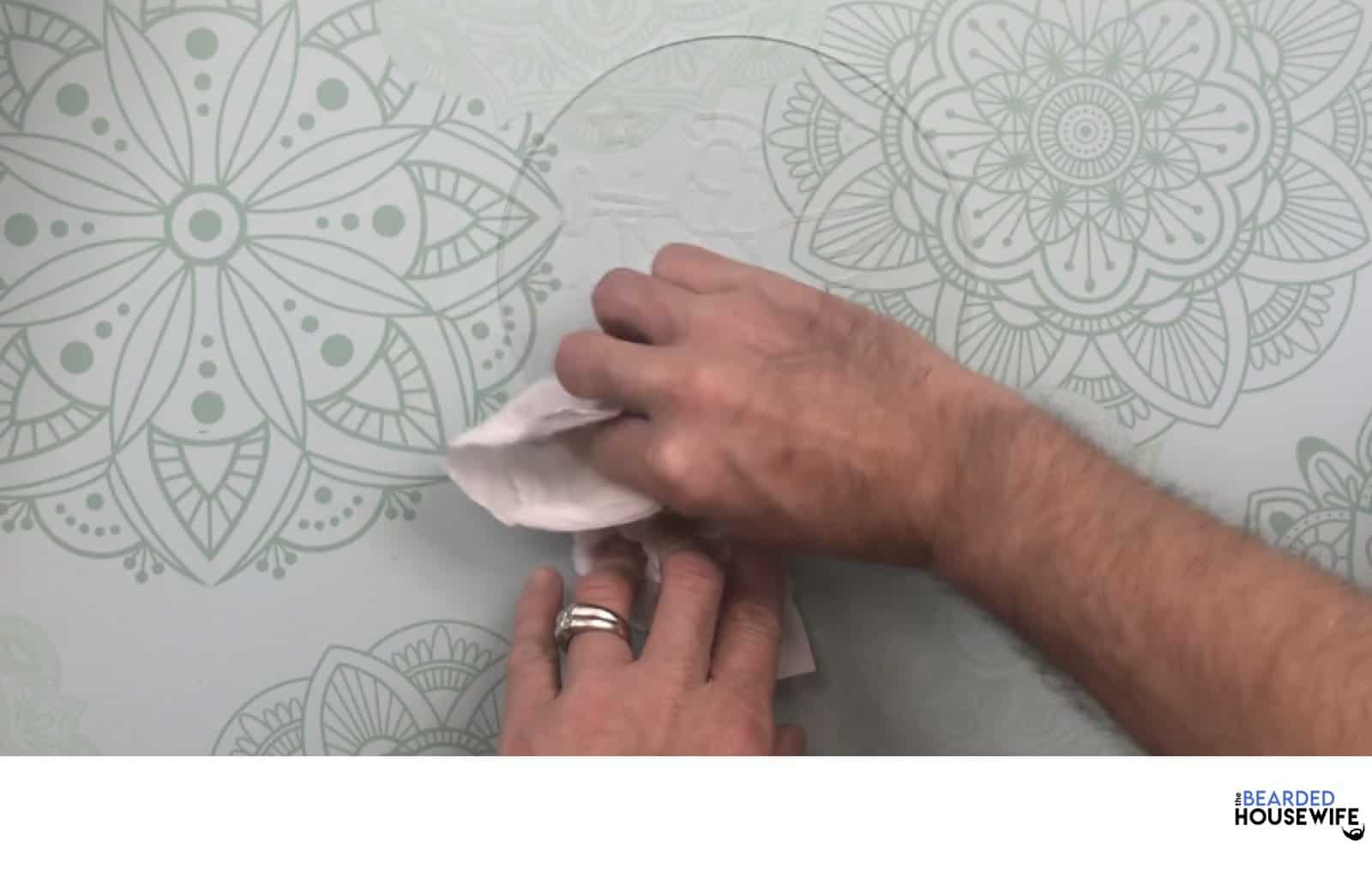 clean your acrylic to make sure it is free from any fingerprints or dust