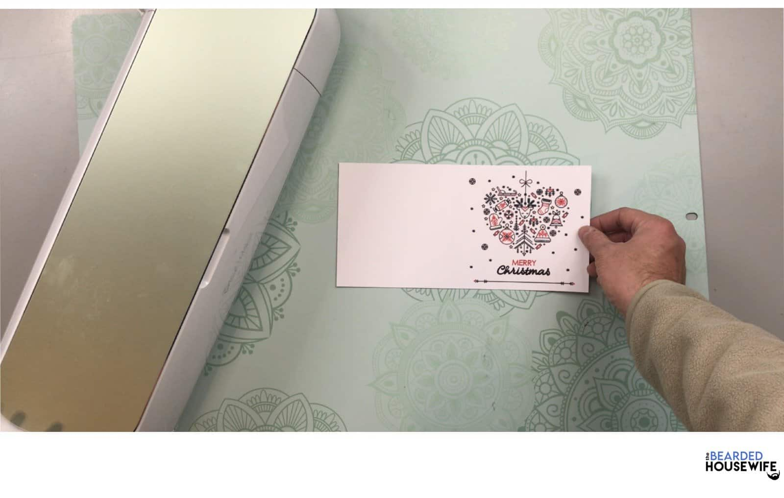 now your card is ready to fold and personalize