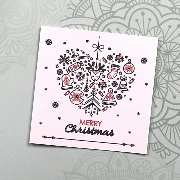 Christmas Heart Cards