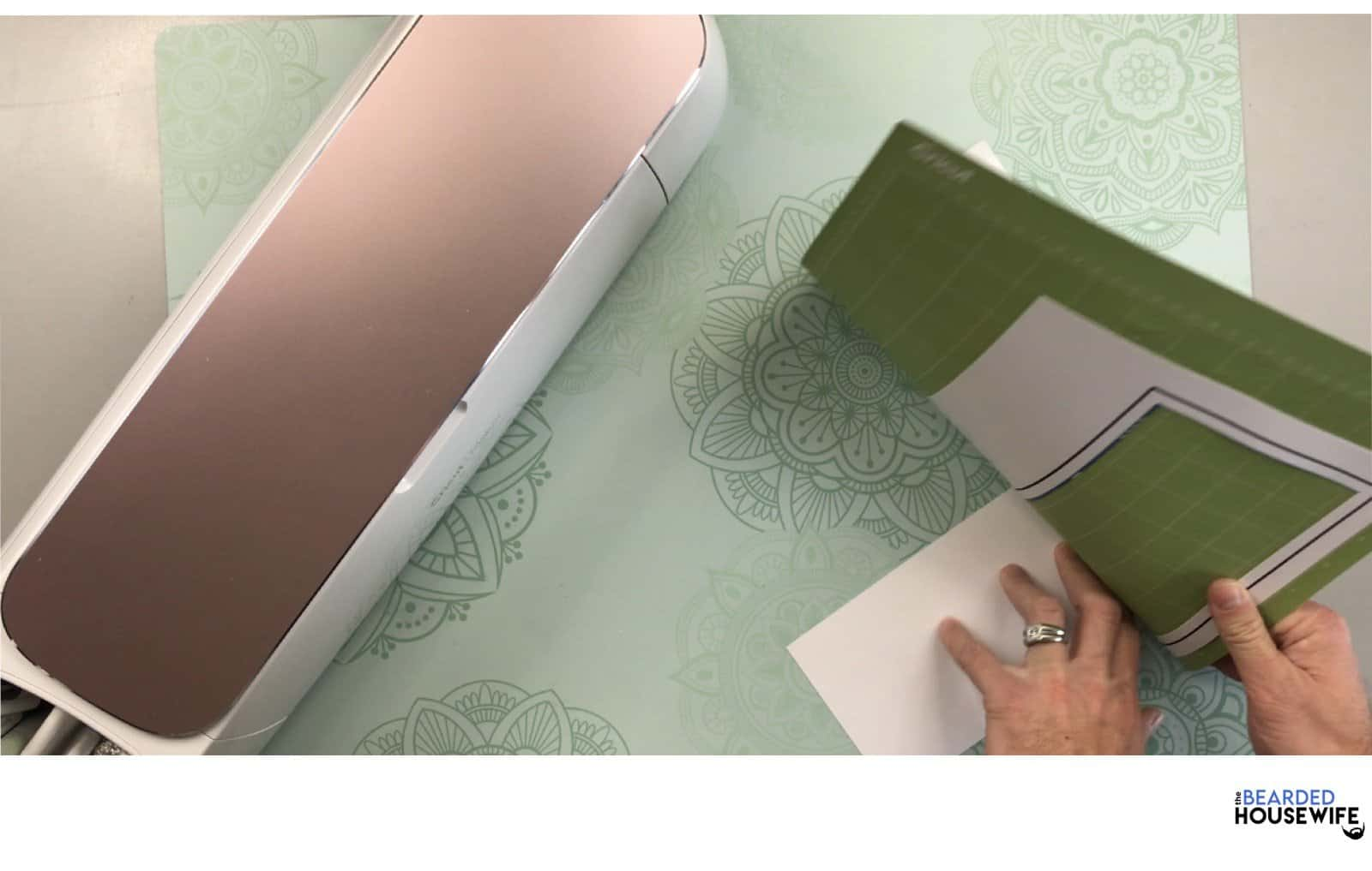 remove your card from the mat by curling the mat away from the cardstock