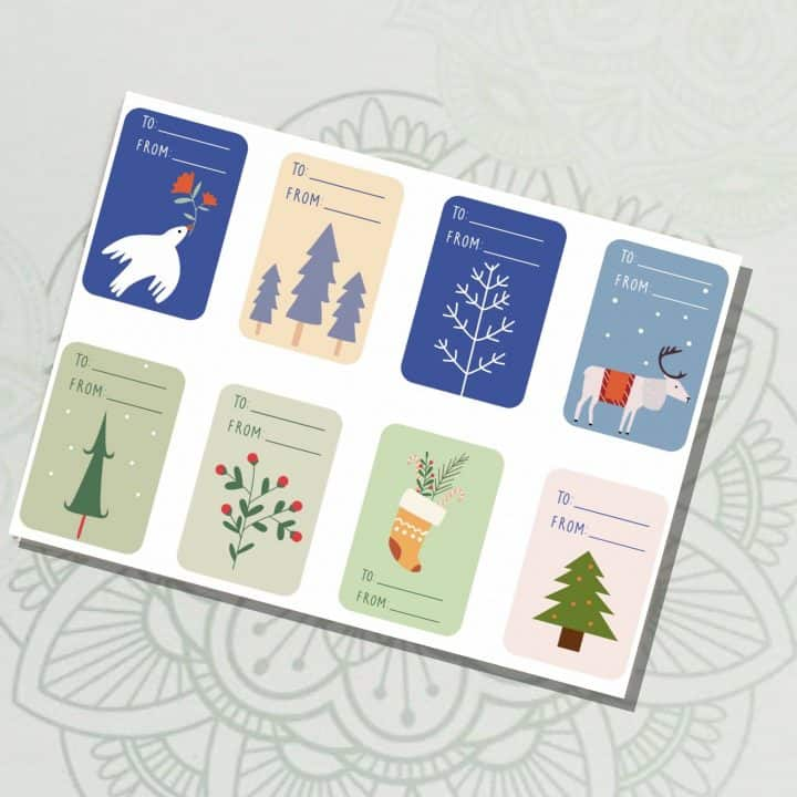 Print then Cut Holiday Gift Tags