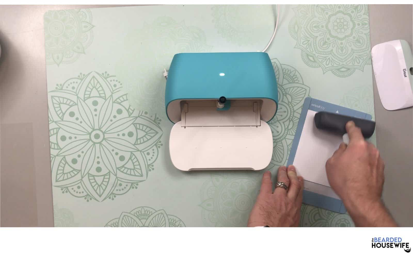 use a brayer to ensure the card has adhered well