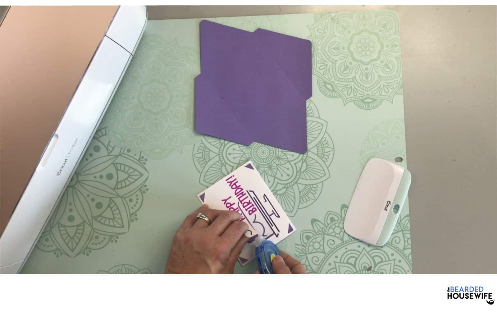 use glue or adhesive to adhere any loose areas of the card