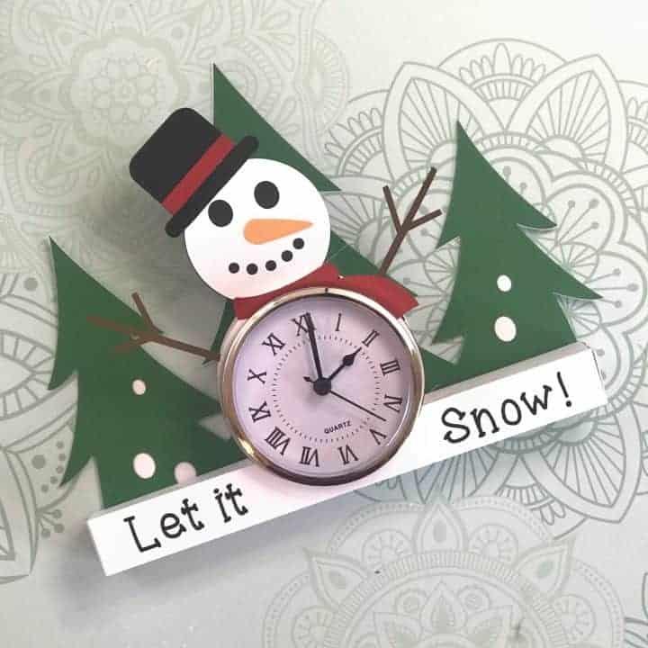 Snowman Paper Clocks
