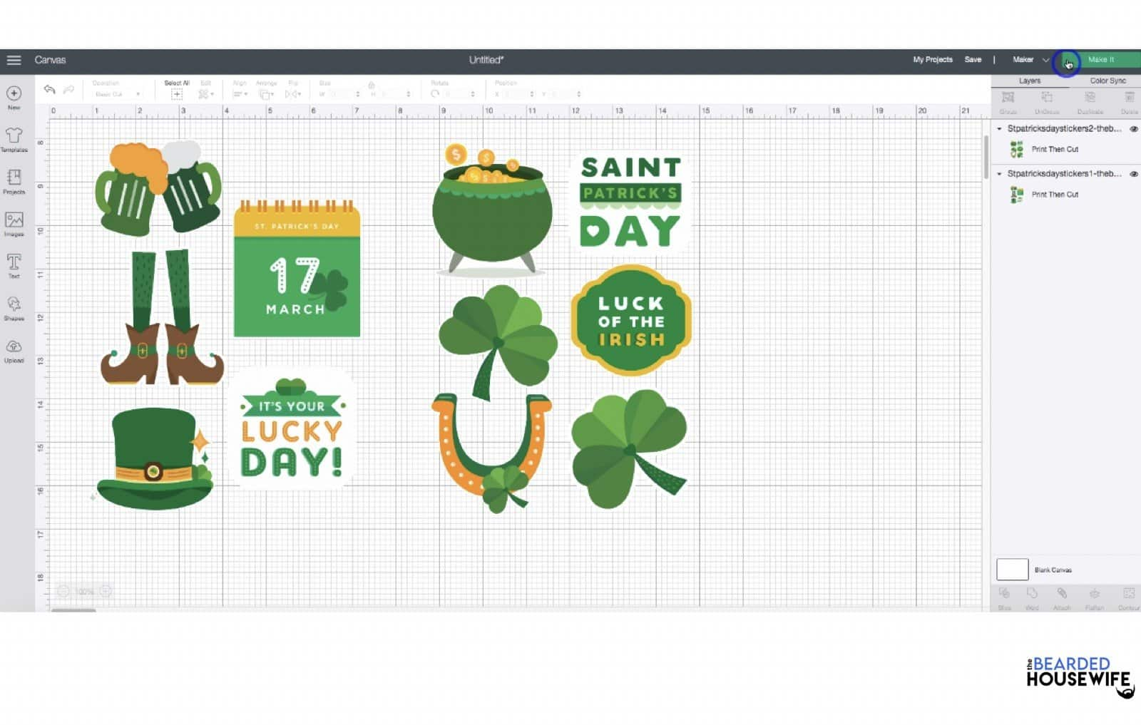 repeat the process for the second sticker sheet