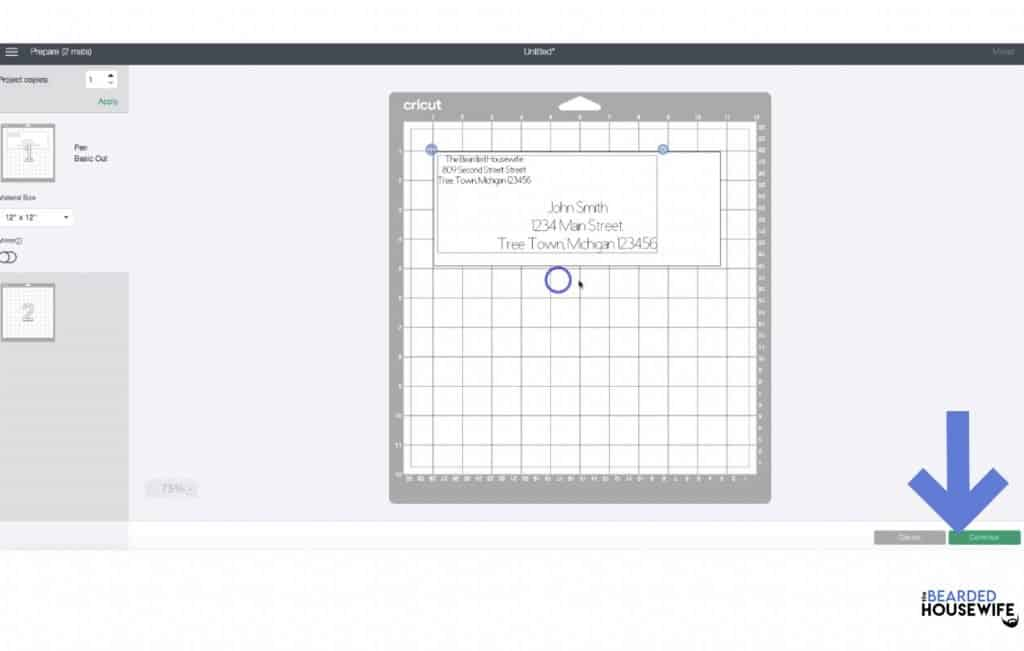 then move the text to the position you would like on the envelope