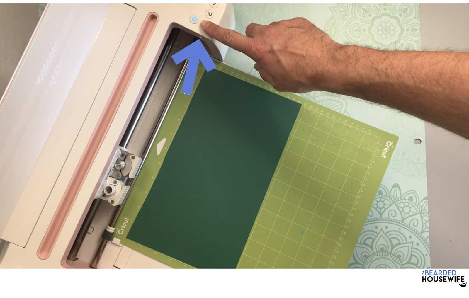 click the arrow button to load your mat