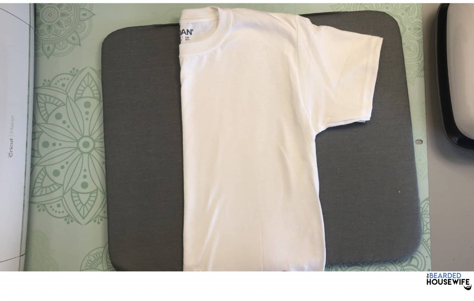 fold the shirt in half lengthwise