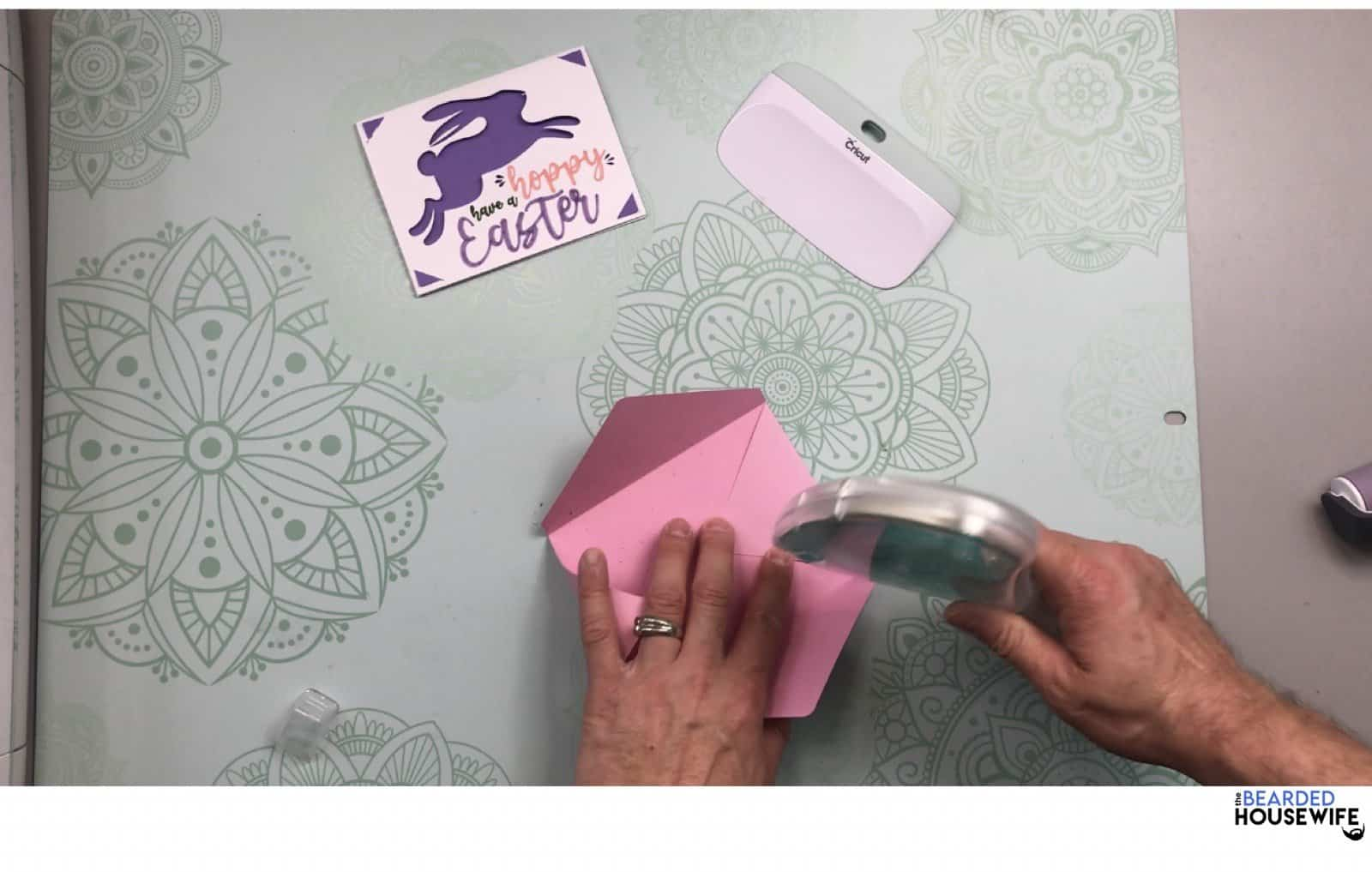 add glue or adhesive to the side tabs