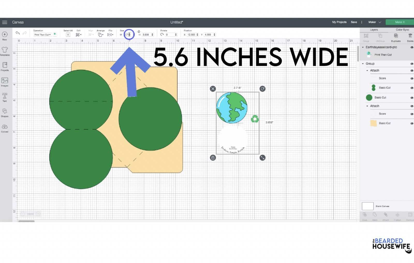 change the dimensions to 5.6 inches wide