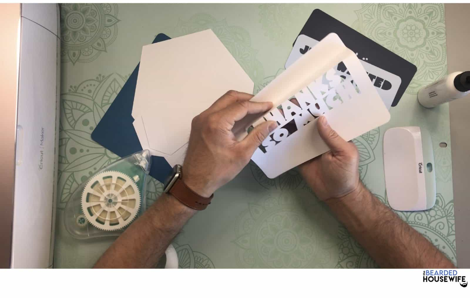 fold along the score line by pressing the fold with your fingers