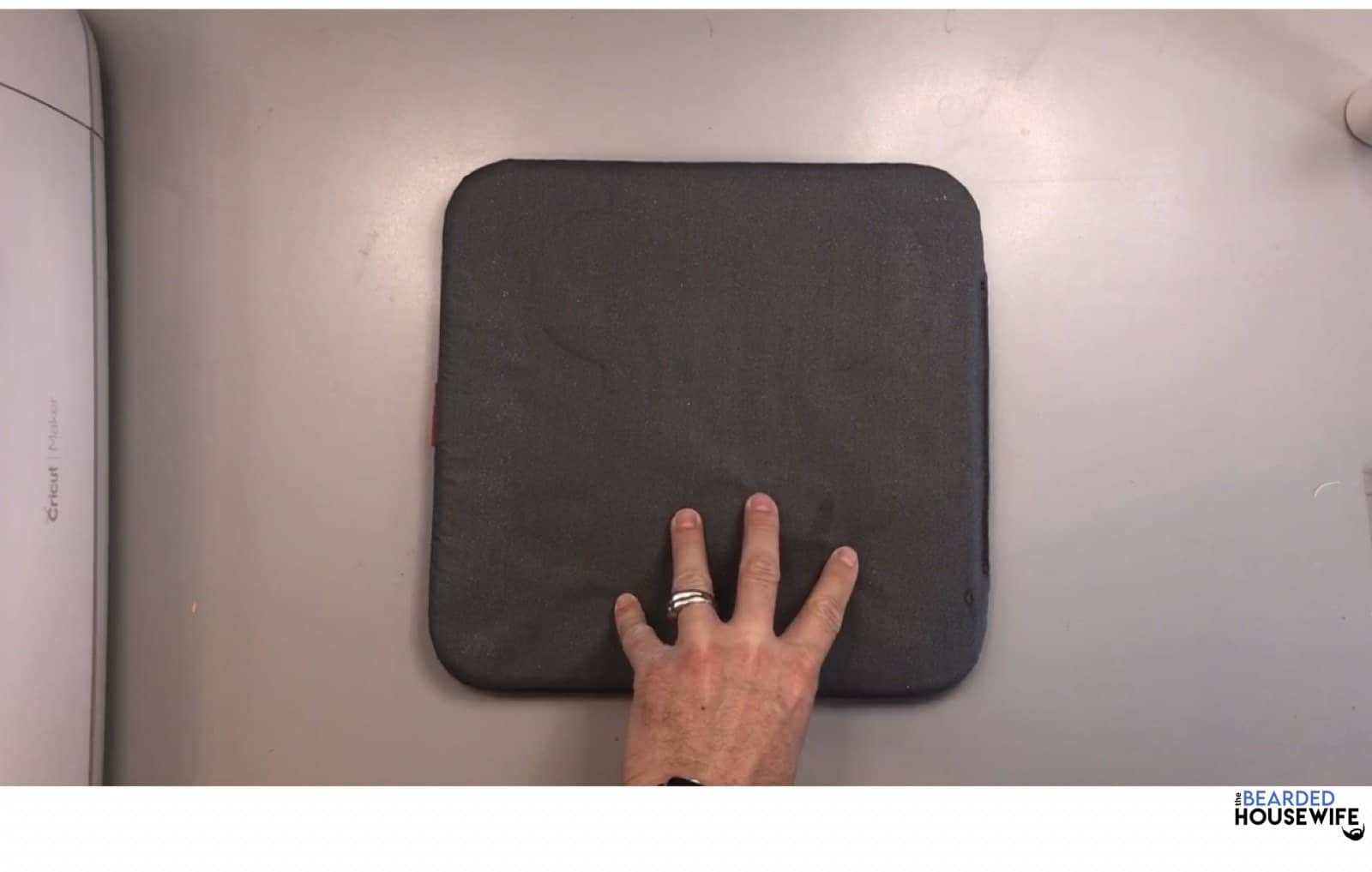 place the easypress mat on a flat surface