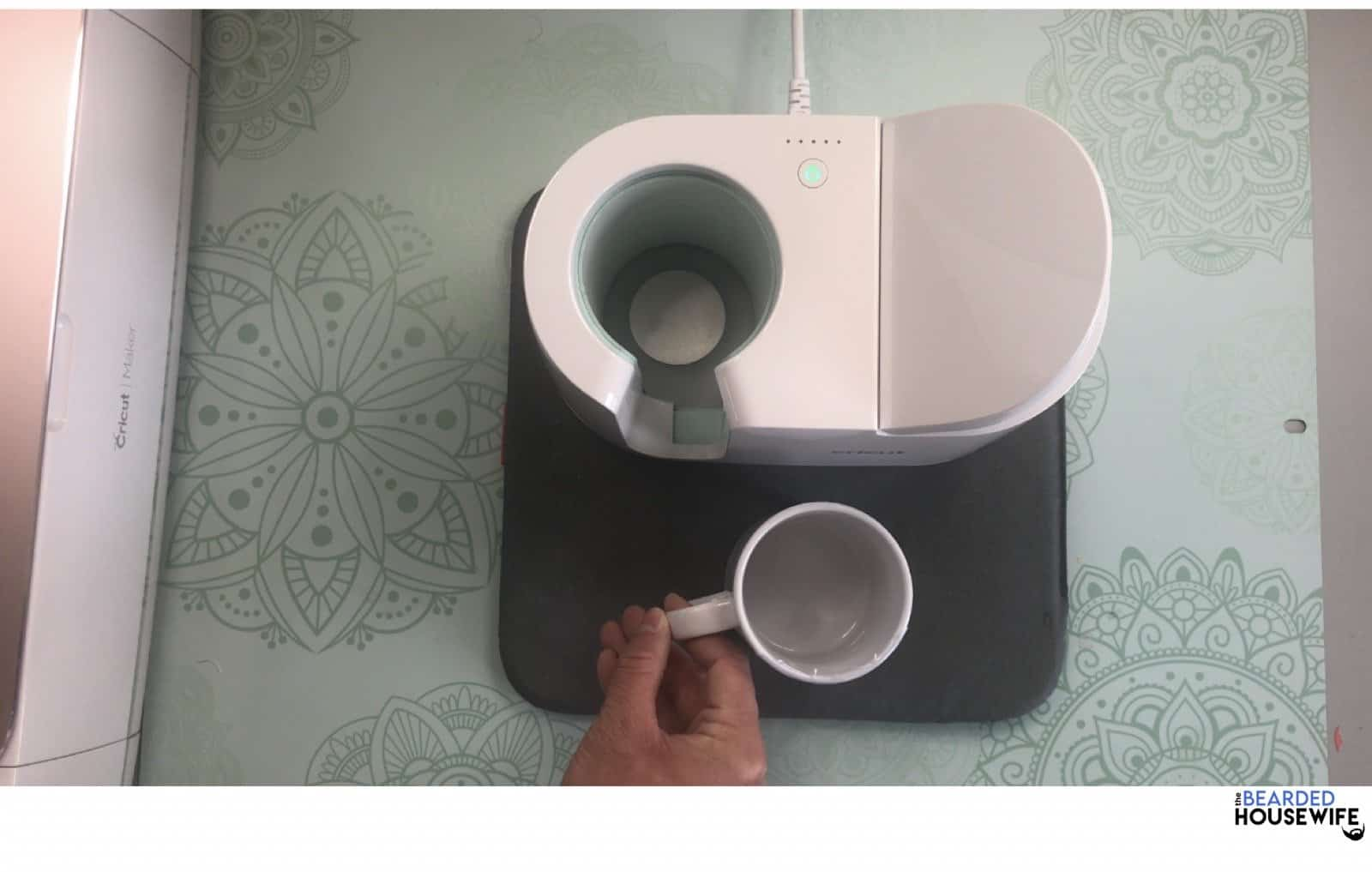 take your mug out and rest it on the easypress mat