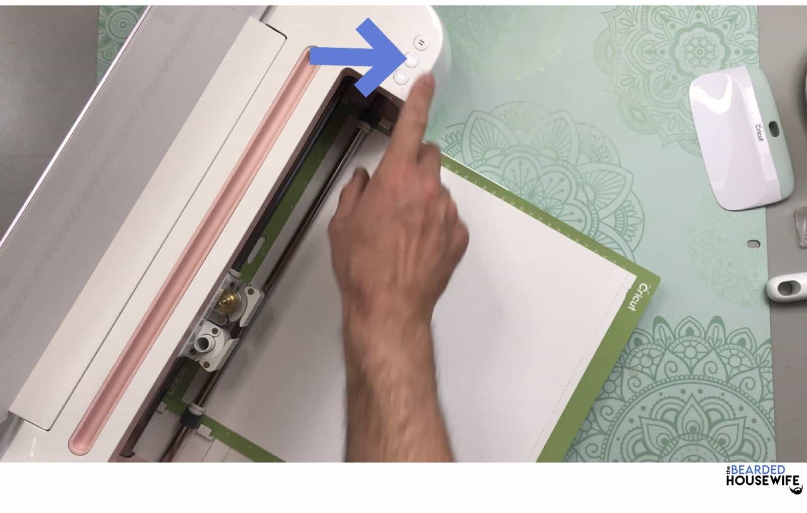 "press the flashing ""C"" to begin your cut"
