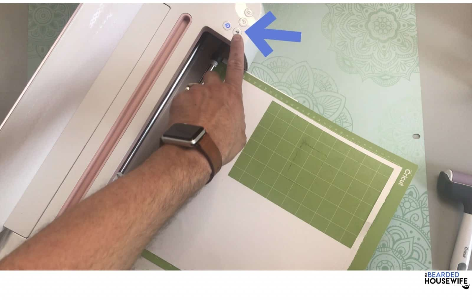 load your mat by pressing the flashing arrows