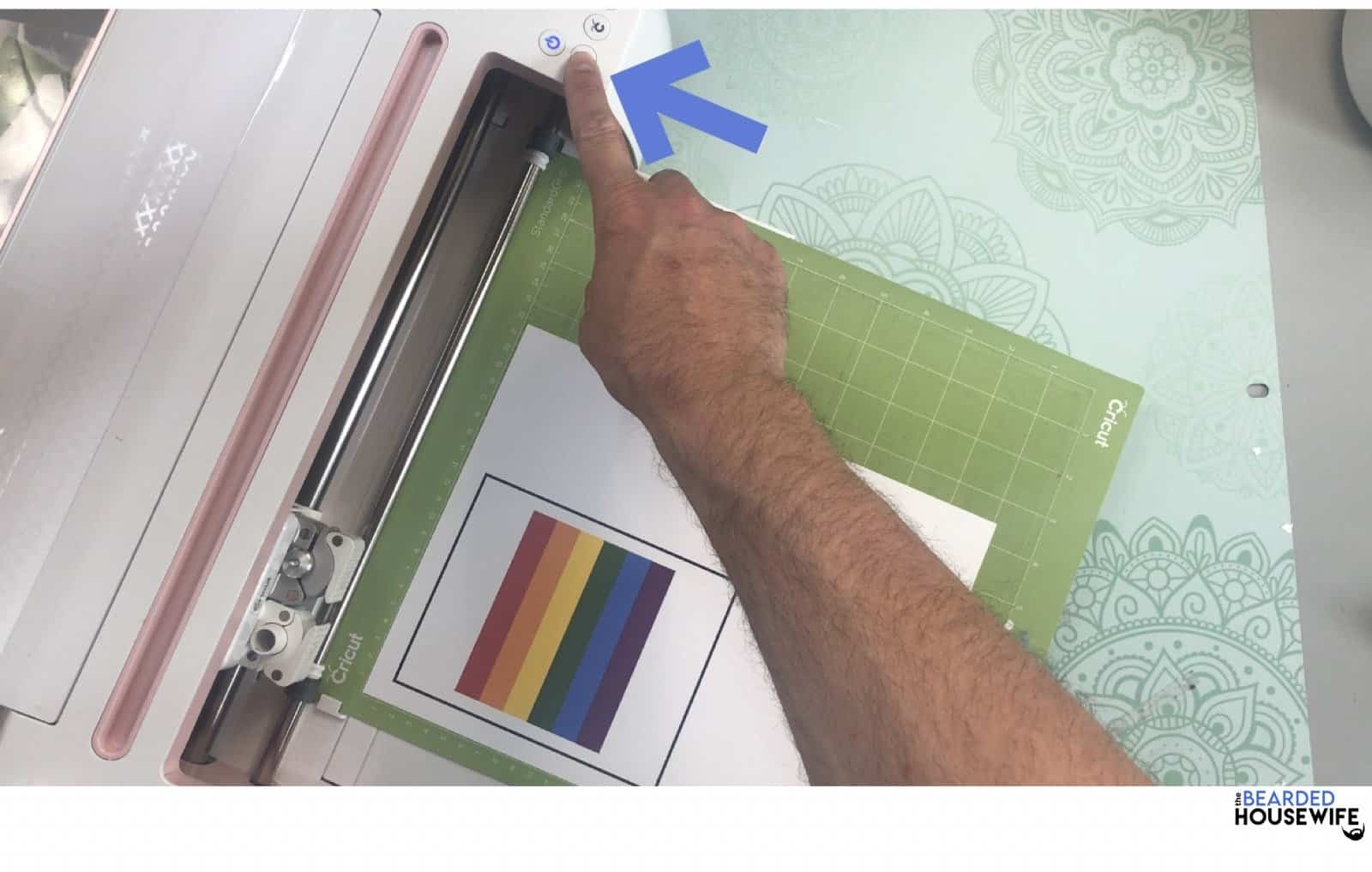 load the mat by pressing the flashing arrows
