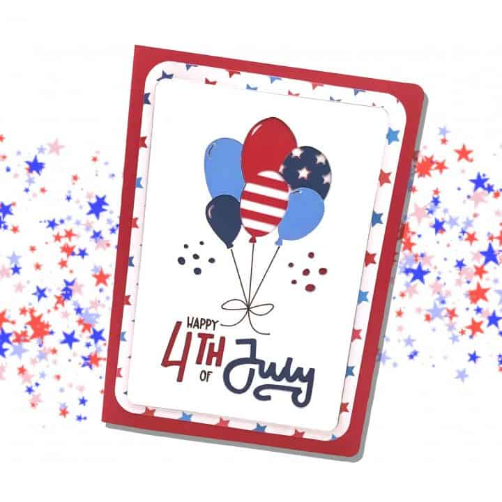 Stacked Fourth of July Card
