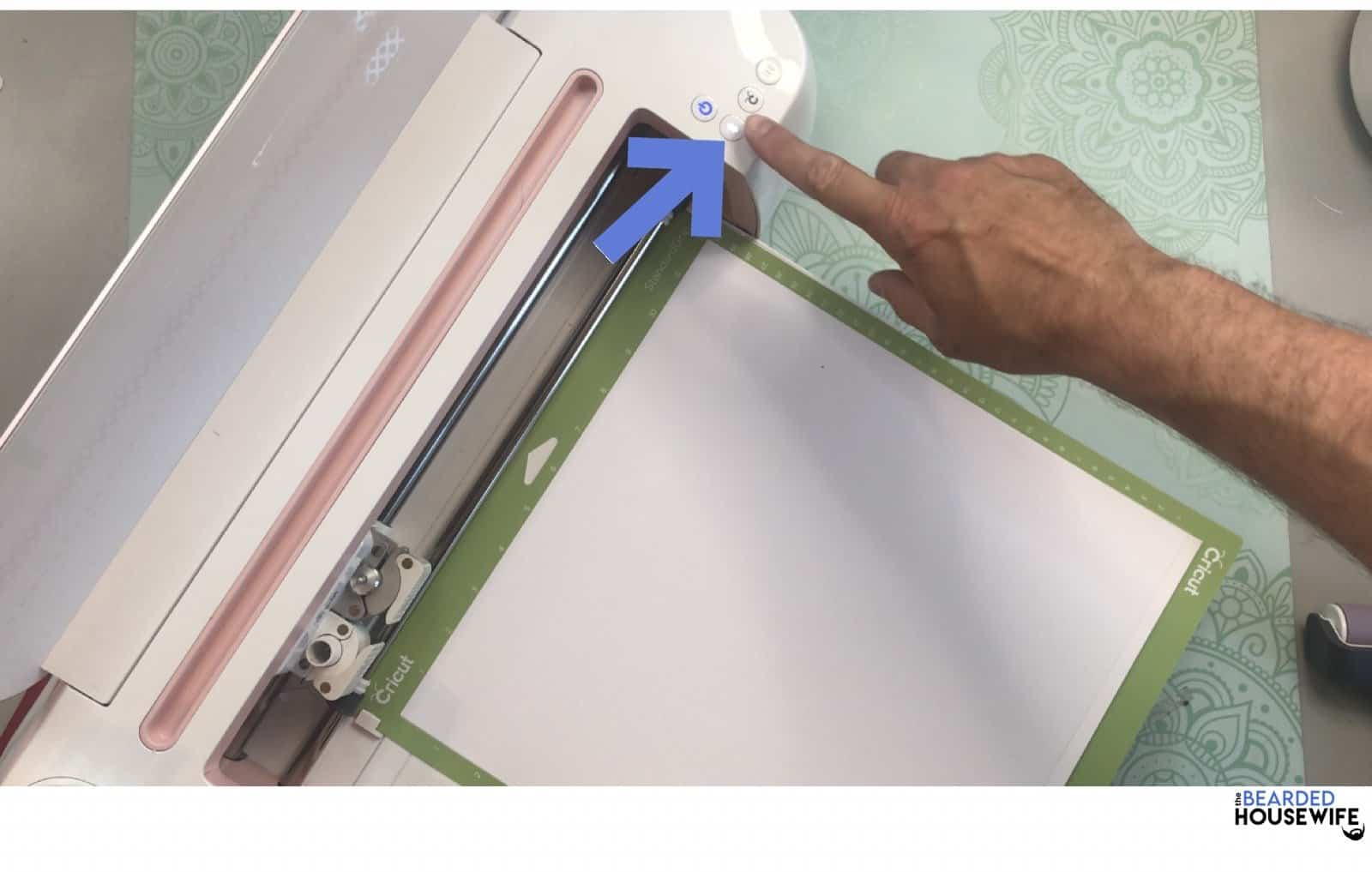 press the flashing arrows to load your mat