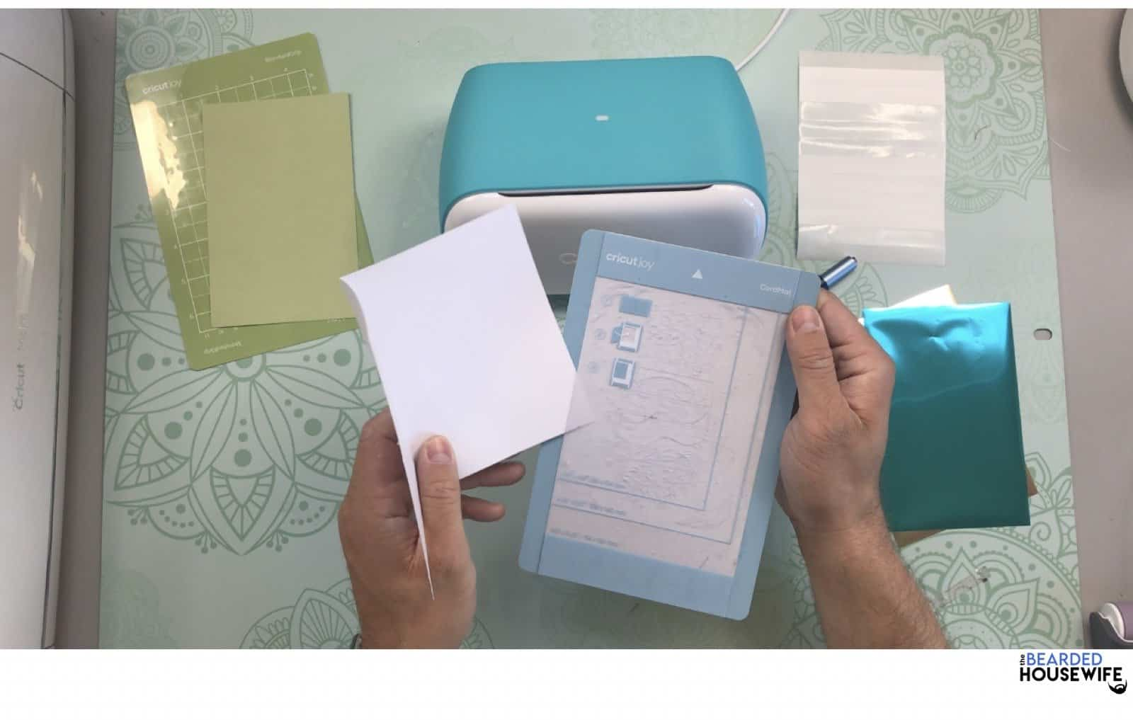 place the insert card into the card mat