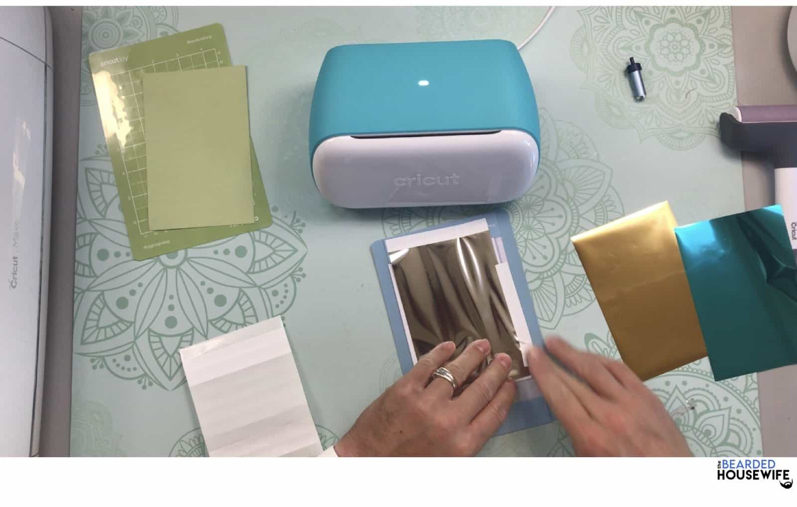 add your tape around the sides of your foil piece