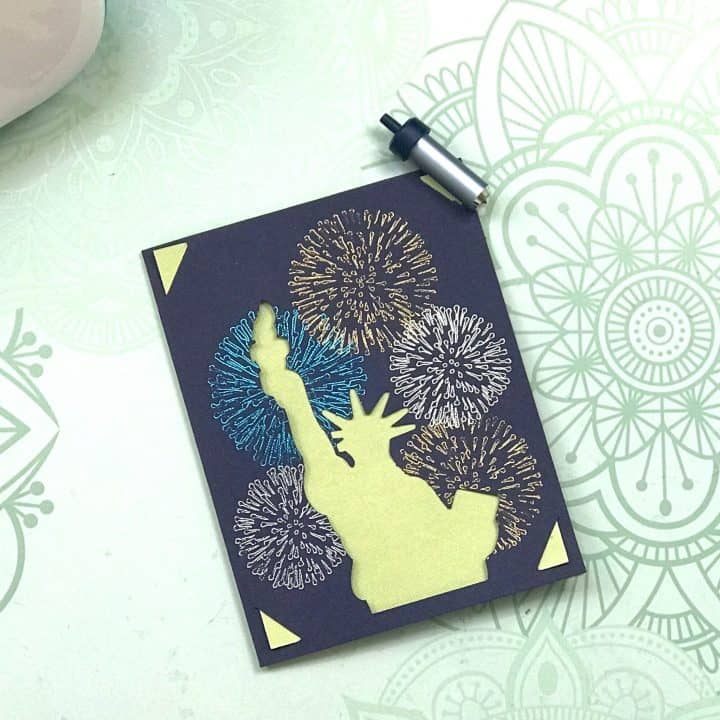 Foiled Statue of Liberty Insert Card