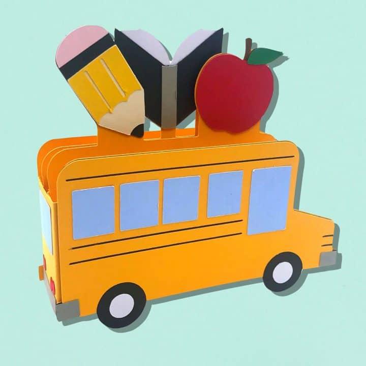 School Bus Box Card