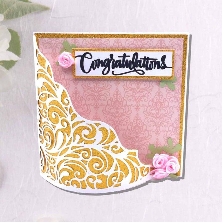 Side Easel Wedding Cards