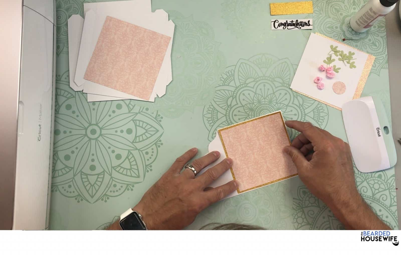 add to the inside of the card