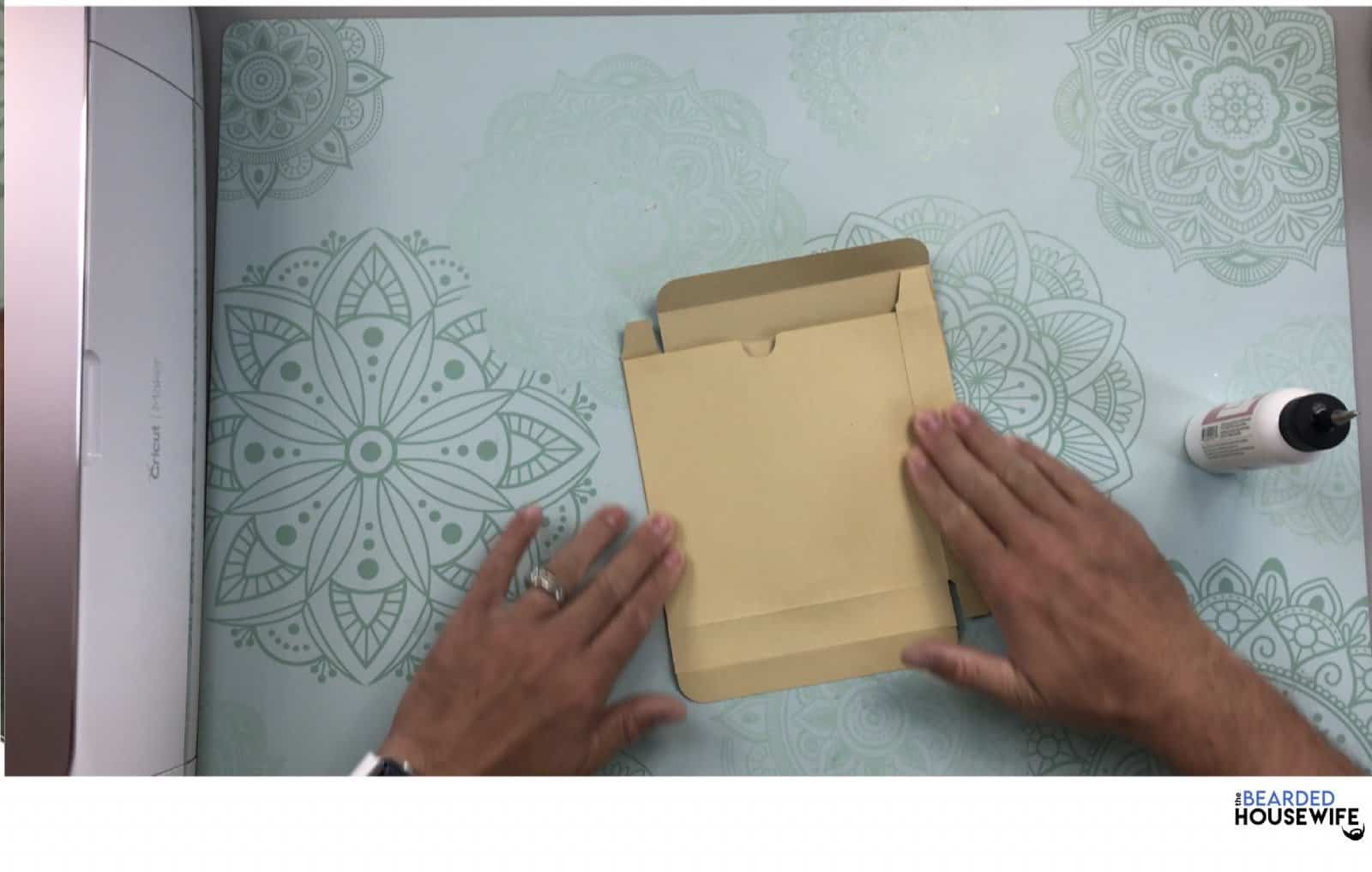 fold the box both ways to make sure it lines up properly