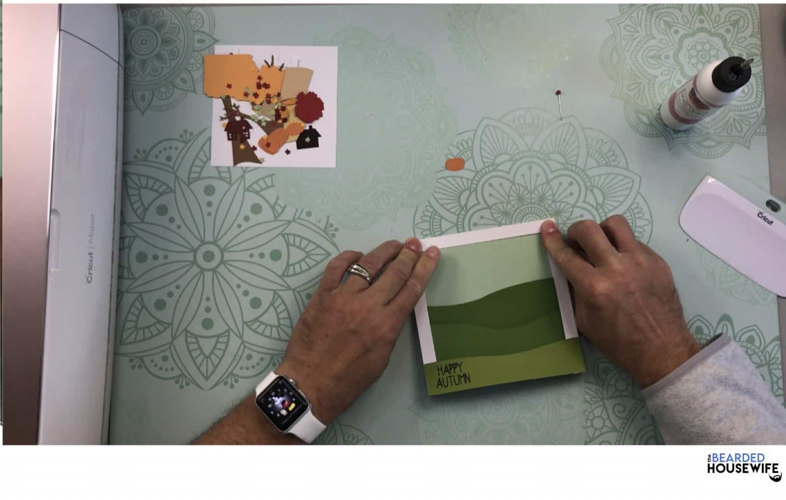 make sure it is flush with the card base and frame