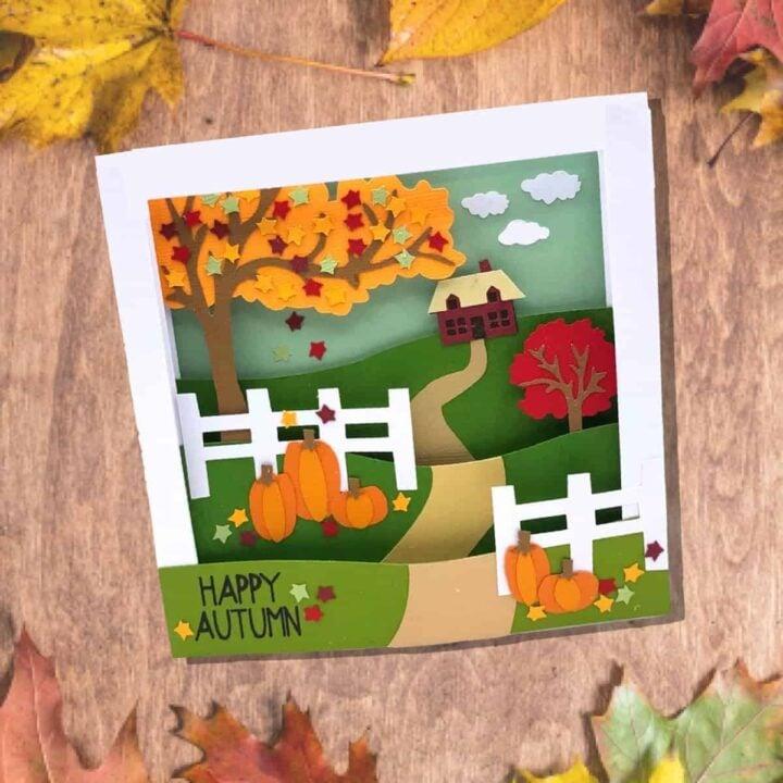 Fall Diorama Card