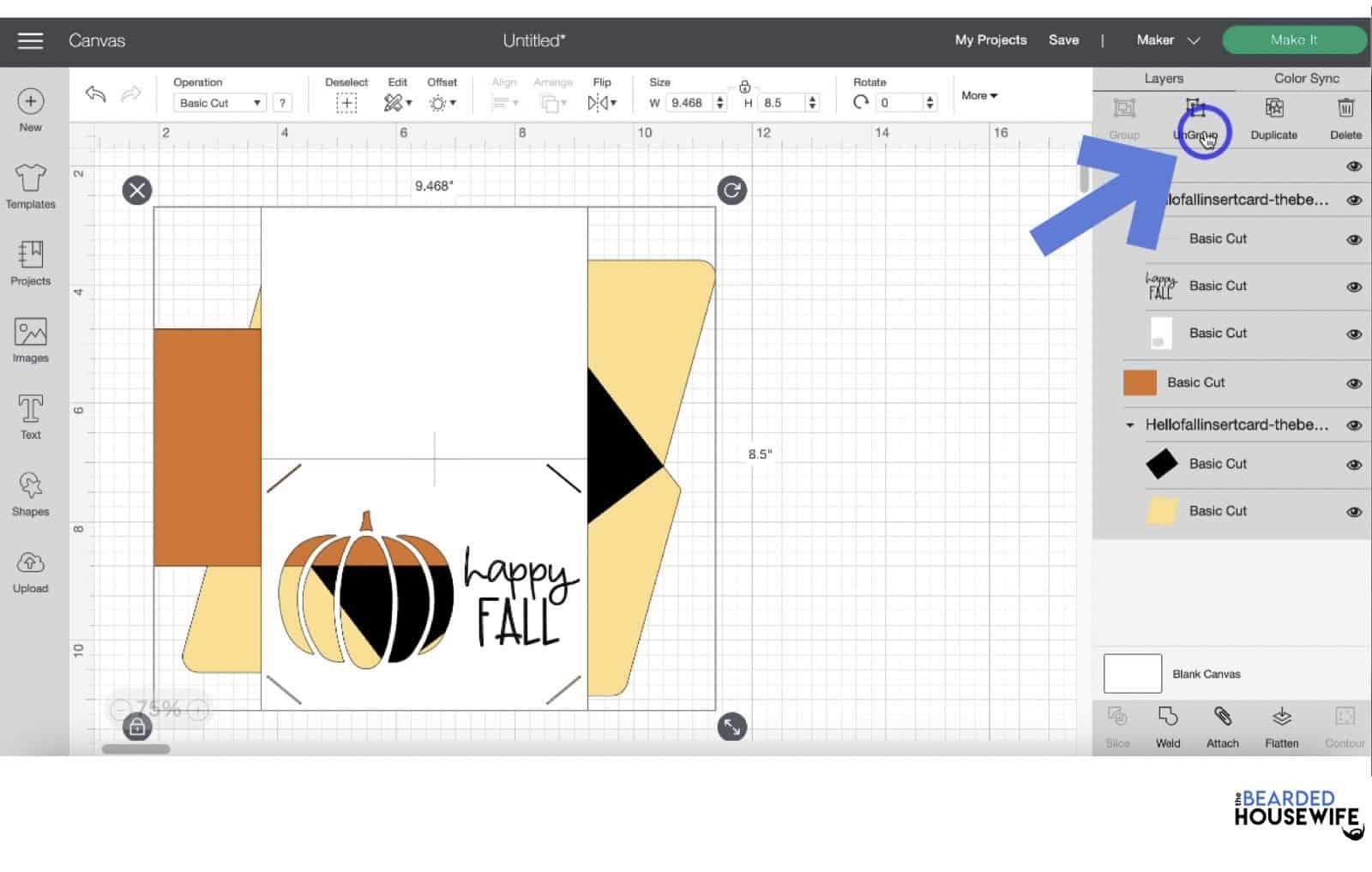 ungroup the design