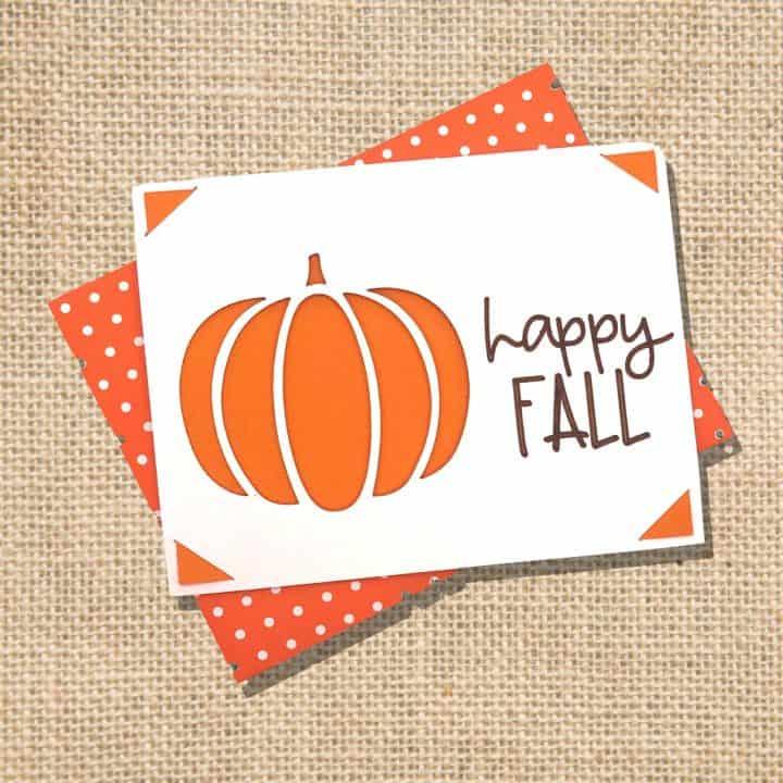 Hello Fall Insert Card