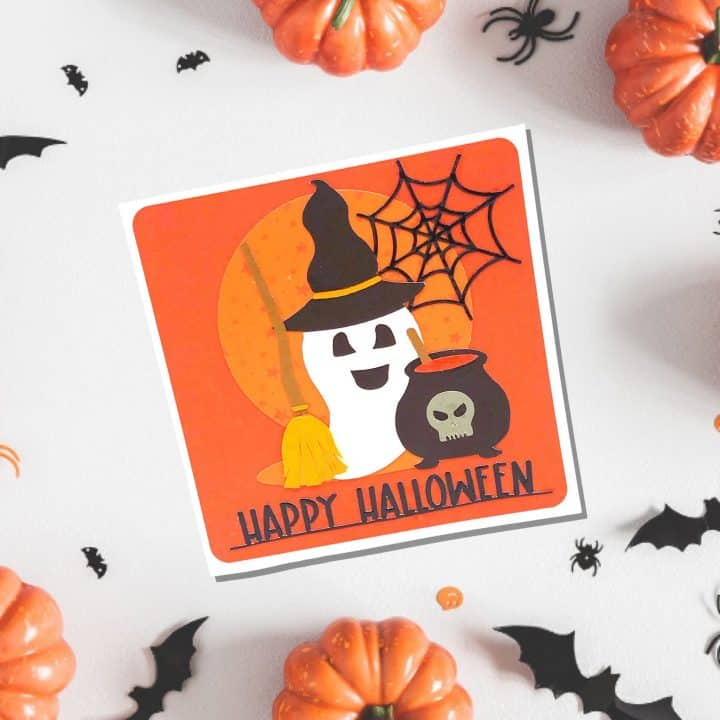 Happy Ghost Layered Card